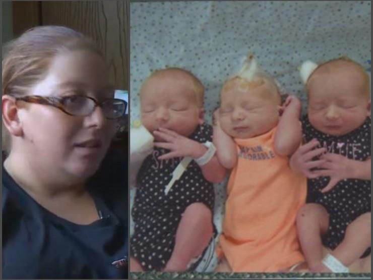 ქალმა, რომელმაც ორსულობის შესახებ მხოლოდ მშობიარობის დაწყებისას გაიგო, 3 ტყუპი გააჩინა