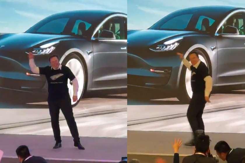 ილონ მასკმა ჩინეთში, Tesla-ს ქარხანაში იცეკვა