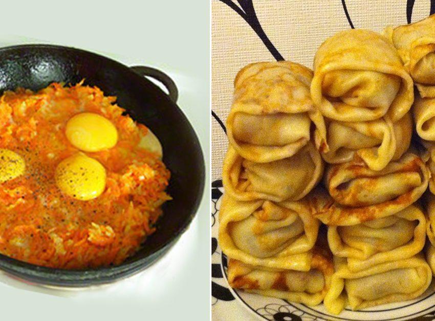ხორციანი ბლინები კვერცხით – მარტივი ინგრედიენტებით მოსამზადებელი ნოყიერი საუზმე