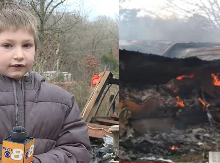 """""""ვერ დავუშვებდი, რომ ჩემი და მომკვდარიყო"""" – 7 წლის ბიჭი დის გადასარჩენად ცეცხლმოკიდებულ სახლში შევარდა"""