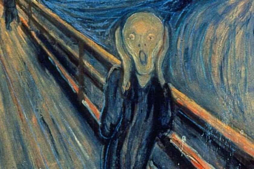 """მკვლევრები დიდხანს კამათობდნენ იმაზე, თუ რომელმა ვანდალმა დაწერა ეს ფრაზა ედვარდ მუნკის ნახატზე """"კივილი"""""""