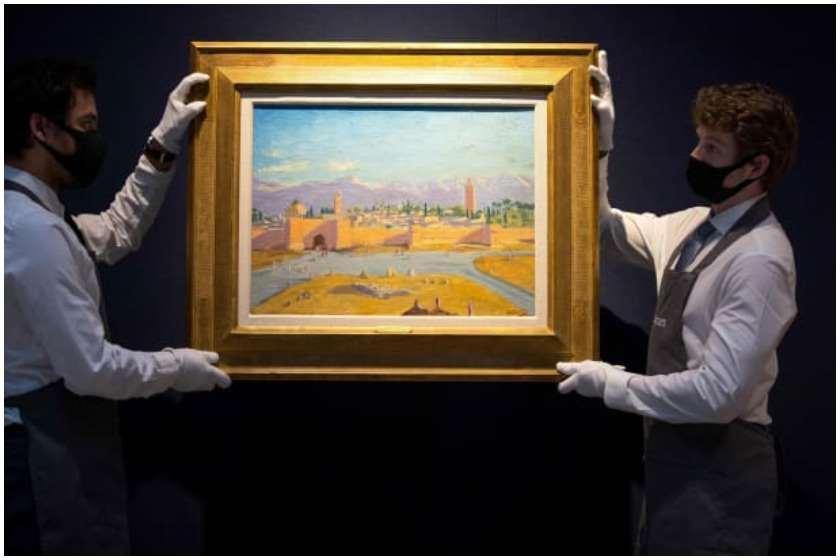 ანჯელინა ჯოლიმ უინსტონ ჩერჩილის ნახატი რეკორდულ თანხად გაყიდა